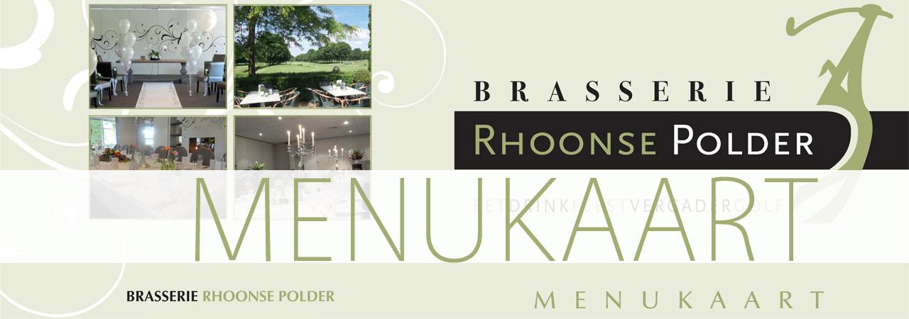Menukaart Brasserie Rhoonse Polder